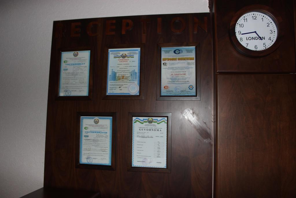 Certificates Platan Samarkand